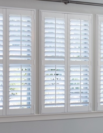 Hidden tilt rod shutters on Fort Myers windows